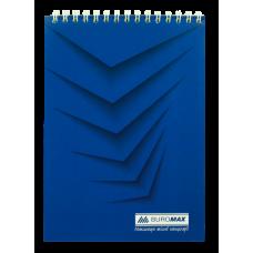 Купить Блокнот на пружине сверху MONOCHROME, А5, 48 листов, синий оптом и в розницу в магазине Скрепка. Доставка по Виннице и Украине.