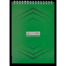 Купить Блокнот на пружине сверху MONOCHROME, А5, 48 листов, зеленый оптом и в розницу в магазине Скрепка. Доставка по Виннице и Украине.