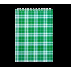 Купить Блокнот на пружине сверху SHOTLANDKA, А4, 48 листов, клетка, зеленый оптом и в розницу в магазине Скрепка. Доставка по Виннице и Украине.