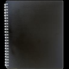 Купить Книжка записная на пружине CLASSIC, В5, 80 листов, клетка, черный оптом и в розницу в магазине Скрепка. Доставка по Виннице и Украине.