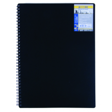 Купить Записная книга на пружине CLASSIC, А6, 80 листов, клетка, черный оптом и в розницу в магазине Скрепка. Доставка по Виннице и Украине.