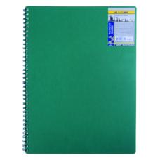 Купить Записная книга на пружине CLASSIC, А6, 80 листов, клетка, зеленый оптом и в розницу в магазине Скрепка. Доставка по Виннице и Украине.
