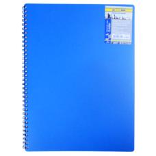 Купить Записная книга на пружине CLASSIC, А6, 80 листов, клетка, синий оптом и в розницу в магазине Скрепка. Доставка по Виннице и Украине.