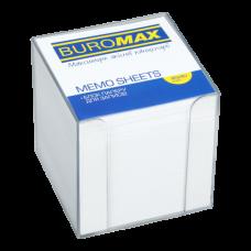 Купить Бокс с белой бумагой 90х90х90мм 1000л, прозрачный оптом и в розницу в магазине Скрепка. Доставка по Виннице и Украине.