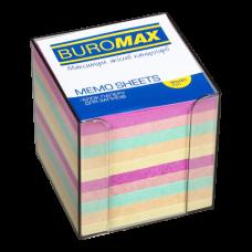 Купить Бокс с цветной бумагой 90х90х90мм., дымчатый оптом и в розницу в магазине Скрепка. Доставка по Виннице и Украине.