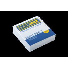 Купить Блок белой бумаги для заметок JOBMAX 80х80х20мм, не склеенный оптом и в розницу в магазине Скрепка. Доставка по Виннице и Украине.
