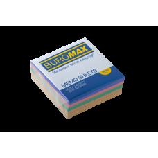 Купить Блок бумаги ДЕКОР 80х80х30мм склеенный оптом и в розницу в магазине Скрепка. Доставка по Виннице и Украине.