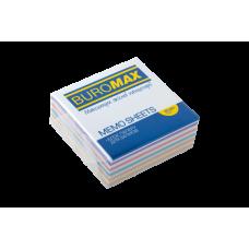 """Купить Блок бумаги для заметок """"Радуга"""" 80х80х30мм, не склеенный оптом и в розницу в магазине Скрепка. Доставка по Виннице и Украине."""