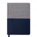 Купить Ежедневник недатированный QUATTRO, A6, синий + серый оптом и в розницу в магазине Скрепка. Доставка по Виннице и Украине.