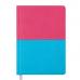 Купить Ежедневник недатированный QUATTRO, A6, розовый+бирюзовый оптом и в розницу в магазине Скрепка. Доставка по Виннице и Украине.