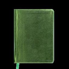 Купить Ежедневник недатированный METALLIC, A6, салатовый оптом и в розницу в магазине Скрепка. Доставка по Виннице и Украине.