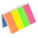 Купить Закладки бумажные с клейким слоем, 20х50мм, 4х50 листов, неон, ассорти оптом и в розницу в магазине Скрепка. Доставка по Виннице и Украине.
