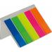 Купить Закладки пластиковые NEON 45x12мм, 5х25 листов, JOBMAX, ассорти оптом и в розницу в магазине Скрепка. Доставка по Виннице и Украине.