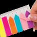 Купить Закладки пластиковые NEON 45x12мм+42x12мм, 8х25 листов, ассорти оптом и в розницу в магазине Скрепка. Доставка по Виннице и Украине.