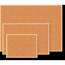 Купить Доска пробковая JOBMAX, 60x90см, деревянная рамка оптом и в розницу в магазине Скрепка. Доставка по Виннице и Украине.