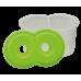 Купить Стакан-непроливайка с двумя отделениями, салатовая оптом и в розницу в магазине Скрепка. Доставка по Виннице и Украине.