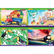 Купить Альбом для рисования на пружине, 40 листов оптом и в розницу в магазине Скрепка. Доставка по Виннице и Украине.