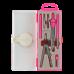 Купить Готовальня BASIS 7 предметов, розовый оптом и в розницу в магазине Скрепка. Доставка по Виннице и Украине.