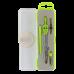 Купить Готовальня BASIS 4 предмета, зеленый оптом и в розницу в магазине Скрепка. Доставка по Виннице и Украине.