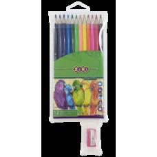 Купить Карандаши цветные SMOOTH c точилкой, 12 цветов оптом и в розницу в магазине Скрепка. Доставка по Виннице и Украине.