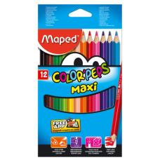 Купить Карандаши цветные COLOR PEPS Maxi, утолщенные, 12 цветов оптом и в розницу в магазине Скрепка. Доставка по Виннице и Украине.
