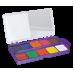 Купить Акварельные краски 10 цветов, пластик. фиолетовый футляр оптом и в розницу в магазине Скрепка. Доставка по Виннице и Украине.
