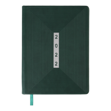 Щоденник датов. 2021 MEANDER, А5, зелений, штучна шкіра (BM.2116-04)