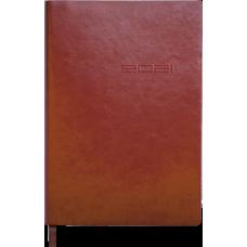 Щоденник датов. 2021 IDEAL, A5, т.-коричневий, штучна шкіра (BM.2175-19)