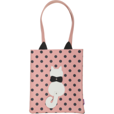 Сумка на плече PUSSY CAT, 29x35x3 см, рожева (декор: кіт з рухливим хвостом) (ZB.702406)