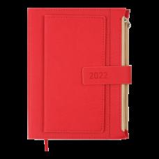 Щоденник датов. 2021 ENIGMA, A5, червоний, штучна шкіра (BM.2113-05)